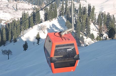 Gondola ride (cable car) from Gulmarg to Khalinmarg